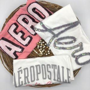 3 Vintage Aeropostale T-Shirts Size  XS